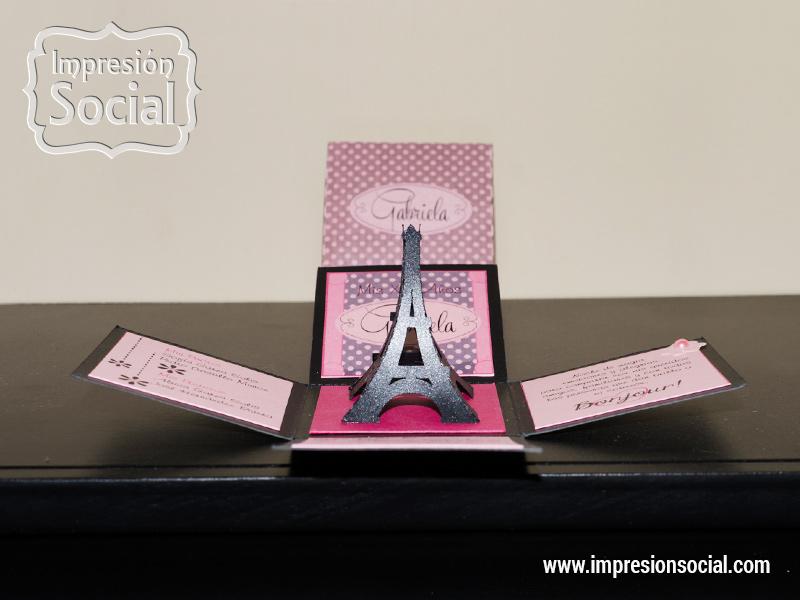 15 Invitación Torre Eiffel